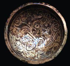 Ayyubid Period, elaborate luster ware bowl, Raqqa (Syria) c. 85.1899.