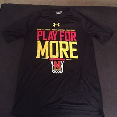 Like new under Armour Maryland dry fit shirt Worn once. Perfect condition.  Mens small Under Armour Tops Tees - Short Sleeve