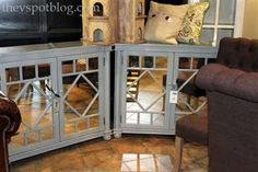 I love this mirrored cabinet, but I worry my boys would destroy it!