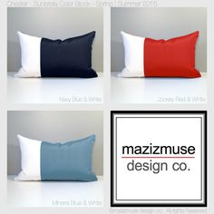 the 47 best color block pillows by mazizmuse design co images on rh pinterest com Target Outdoor Pillows Sunbrella Outdoor Pillow Blue