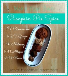 Make Your Own Pumpkin Pie Spice - fantasticsausage