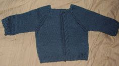 teanahs page of knitting: Unbend Cabled Baby Cardigan pattern
