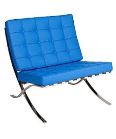 Blue Barcelona chairs! We have 8 in our rental inventory. Modern Chair Rental - Lounge furniture rental -
