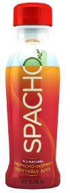 FreshForward Beverages launched its 100 percent natural vegetable juice Spacho. Inspired by an authentic Andalusian gazpacho recipe, Spacho is made from Italian tomatoes, cucumbers, bell peppers, extra virgin olive oil and sherry wine vinegar and is seasoned with garlic, pepper, onion, cumin and sea salt.