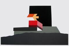 Luc Van malderen, Monument, 1998, Rouge-Cloître Jeux de construction | Mu-inthecity.com