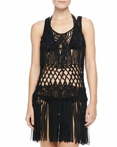Macrame Sleeveless Dress Coverup by Nanette Lepore at Bergdorf Goodman.