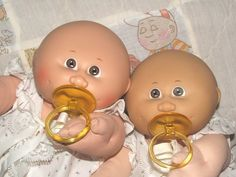 Cabbage Patch preemies - had one. Her name was Angelita Della, out of the box. I has it changed, of course.