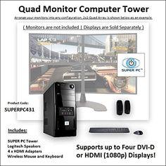 SUPER PC   Quad Monitor Computer   3.6Ghz Intel Core i7 Quadcore   16GB of DDR3   512GB SSD   2GB GDDR5 R7 265 [256-bit] Graphics SUPER PC http://www.amazon.com/dp/B011HU30R6/ref=cm_sw_r_pi_dp_m2n9vb1PJA49Z