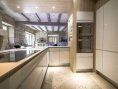 la cuisine se projette vers le jardin | cuisine - Cuisiniste Chambray Les Tours
