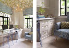 The Peak of Tres Chic: interiors Quadrille fabric