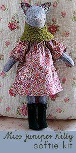 Miss Juniper Kitty Hand-Stitched Softie Kit