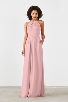 Shop Dove & Dahlia Bridesmaid Dress - Isabelle in Poly Chiffon at Weddington Way. Find the perfect made-to-order bridesmaid dresses for your bridal party in your favorite color, style and fabric at Weddington Way.