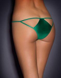 Cassandra Bikini Bottom Green - Bikinis - Swim
