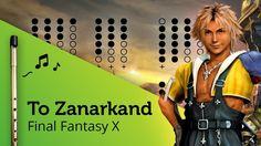 To Zanarkand (Final Fantasy X) on Tin Whistle D + tabs tutorial