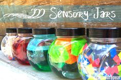 Sensory Jars - a neat idea
