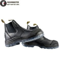 new style d4026 ea106 BAKKEN---ROCKROOSTER AK Series Men s work boots Ankle height elastic sided  boots with steel toe cap - AU 146.42