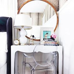 Thanks for sharing my nightstand/desk @dominomag // It's a great solution for a small space.