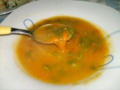 sopa de legumes e feijao verde