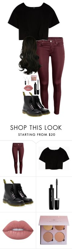 """""""Outfit 5 (Estella)"""" by lily-hollibaugh on Polyvore featuring Max&Co., Dr. Martens, Marc Jacobs, Lime Crime and Bling Jewelry"""