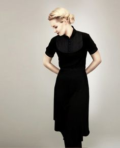 M.I.R.A black jersey dress #womensfashion #dress #nattygal