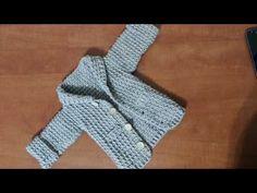 Cardigan crosetat pentru copii - YouTube Crochet Patterns, Crochet Ideas, Cardigan, Crochet Baby, Baby Blankets, Youtube, Videos, Tejidos, Bags