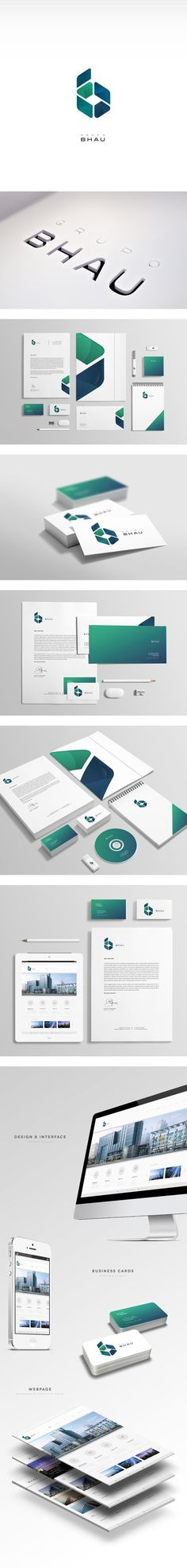 Grupo BHAU by Diego Leyva, via Behance | #stationary #corporate #design #corporatedesign #identity #branding #marketing < repinned by www.BlickeDeeler.de | Take a look at www.LogoGestaltung-Hamburg.de