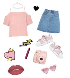 """""""They hate us,cause they ain't us 💅🏻"""" by cutemiley ❤ liked on Polyvore featuring adidas, Big Bud Press, Fujifilm, Sons + Daughters, Hipstapatch, Smashbox, T By Alexander Wang and tarte"""