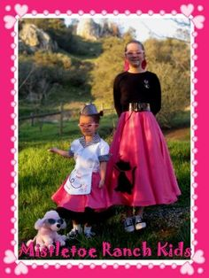 Mistletoe Ranch Kids: Father - Daughter Dance: 50's sock hop, custom made poodle skirts, car hop costume and more!
