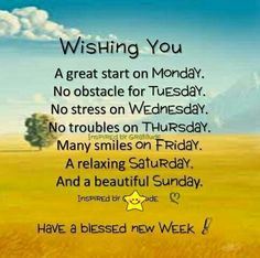 Good morning..have a great week ahead!