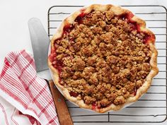 Strawberry Crumble Pie recipe from Food Network Kitchen via Food Network