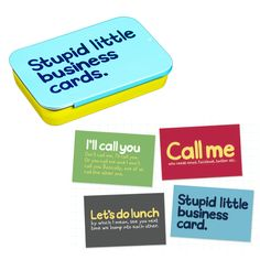 Silly Business Cards in a Tin. A great gift idea for Christmas. www.athomeshopping.co.uk £4.99