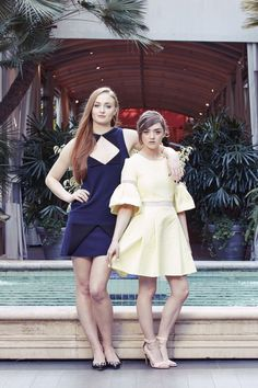 most-beautifulgirls: Sophie Turner and Maisie Williams