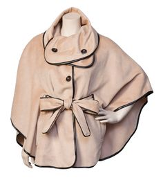 """""""Isabelle"""" cape in cocoa by TheCue Cherqu, provided by Vesta's."""