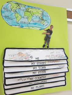 Classroom Activities- Literacy / Me on the Map projects.might be the cutest thing I 3rd Grade Social Studies, Social Studies Activities, Teaching Social Studies, Teaching Science, Social Science, Teaching Tools, Teaching Maps, Teaching Geography, Teaching Ideas