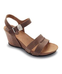 Dark Taupe Caolin Wedge by Scholl on #zulily today!