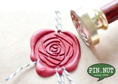 Peony Camellia Rose Flower Gold Plated Wax Seal Stamp & Sealing Wax