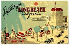 Long Beach, CA vintage postcard | retro postcard | villa riviera | beach postcard | picturesque long beach | southern california | so cal