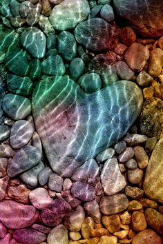 Heart underwater...