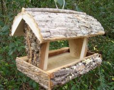 RUSTIC  Bird feeder / squirrel feeder --- handmade in Appalachian mountains of NC