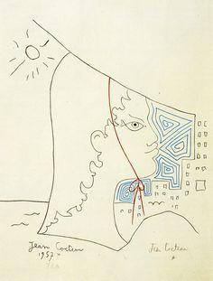 Jean Cocteau(1889-1963) - Fisherman's daughter (Fille du pecheur), 1957  Museum Pfalzgalerie Kaiserslautern, Germany