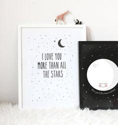 Poster-ich liebe dich bis zum Mond und zurück A3 von EefLillemor