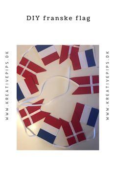 Brug min vejledning til at sy dine egne franske flag - eller alle andre flag med tre lodrette striber. Flag, Bruges, Country, Sewing, Logos, Cards, Creative, Dressmaking, Rural Area