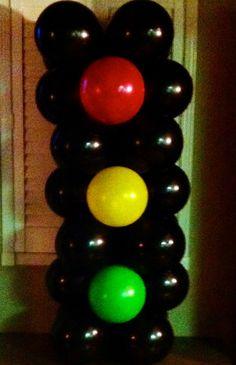 Mrs Sieb: How to make Traffic Light Balloons