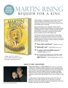 "Companion guide and poster for Martin Rising, an all-ages illustrated book that follows the last few months of Dr. Martin Luther King, Jr.'s life, including his ""I've Been to the Mountaintop"" speech.  #scholastic #scholasticlearnathome #drmartinlutherkingjr #picturebook #middlegrade #americanhistory #africanamericanhistory #biography #civilrights #freeresources #teacherresources #freeposter #classroomtools #readaloud Reading Resources, Teacher Resources, Classroom Tools, King Jr, Martin Luther King, African American History, Read Aloud, Biography, Lesson Plans"