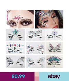 Temporary Tattoos Glitter Jewel Adhesive Sticky Face Gems Weddings Party  Xmas Club Body Make Up 1c03ea7ecbc0