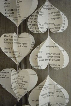 My Passion for Book Page Crafts