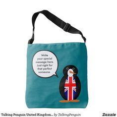 Talking Penguin United Kingdom Flag Tote Bag