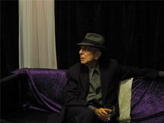 """zzzze: """" SHARON ROBINSON Leonard Cohen Seated with Glass - 2008 Color Photograph: Color Type: Archival Digital print """""""