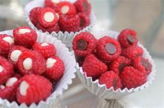Chocolate chip filled raspberries = genius from @ColourfulPalate, spotted at the M Spotlight!