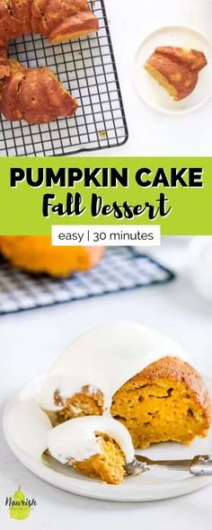 This delicious pumpkin bundt cake is the perfect fall dessert. This recipe delivers all of fall's favorite flavors in an easy to make bundt cake. This recipe doesn't require a ton of ingredients or any special or complicated instructions. It takes 15 minutes to prep and then bakes for only 30 minutes!